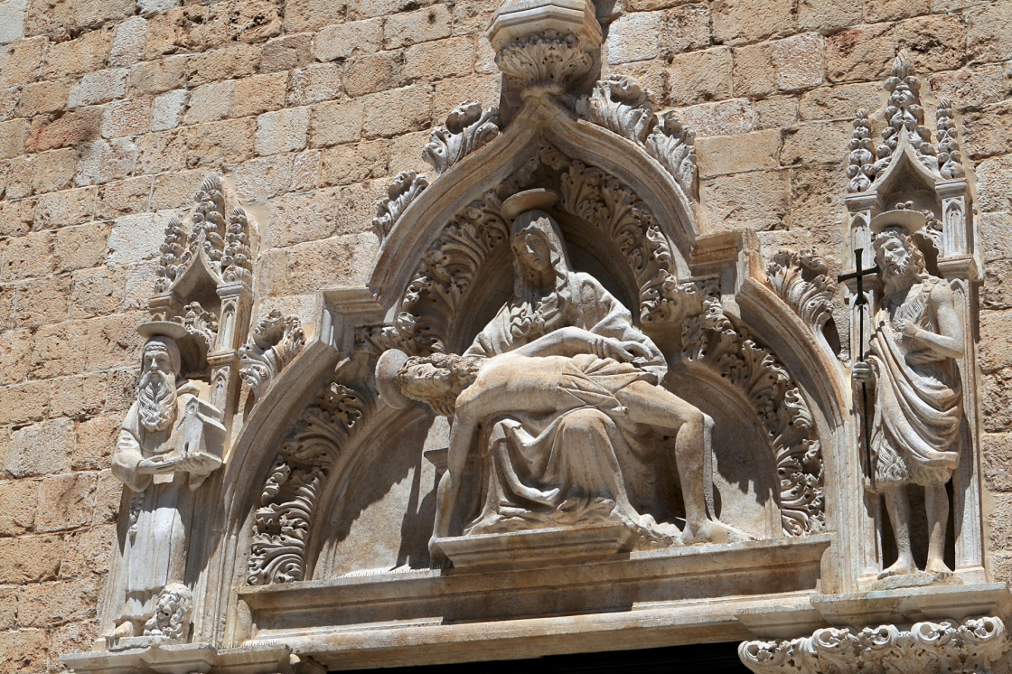 'The Franciscan monastery sculpture in Dubrovnik' - Dubrovník